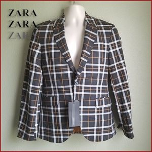 Zara Man Plaid Blazer